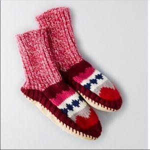 New American Eagle Patchwork Slipper Socks - Small
